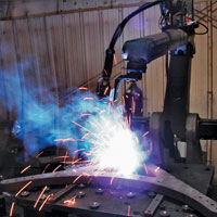 robotic industrial welding and vibratory stress relief